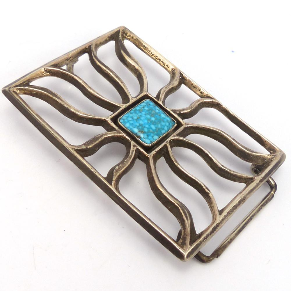 Kingman Turquoise Buckle, Tom Dewitt, Jewelry, Garland's Indian Jewelry