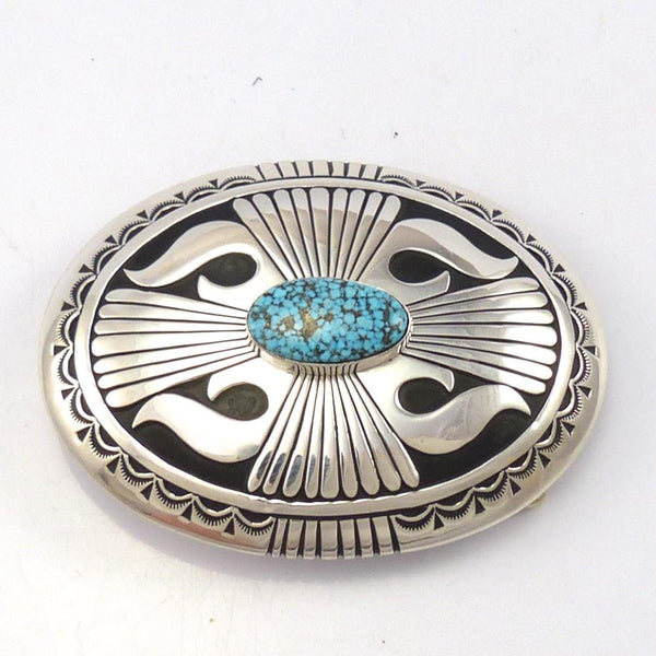 Kingman Turquoise Buckle, Charlie John, Jewelry, Garland's Indian Jewelry