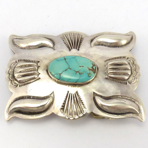Turquoise Buckle, Jed Deutschman, Jewelry, Garland's Indian Jewelry