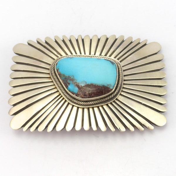 Bisbee Turquoise Buckle, Tommy Jackson, Jewelry, Garland's Indian Jewelry
