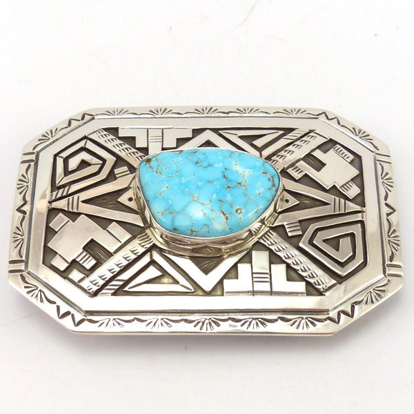 Birdseye Kingman Turquoise Buckle, Peter Nelson, Jewelry, Garland's Indian Jewelry