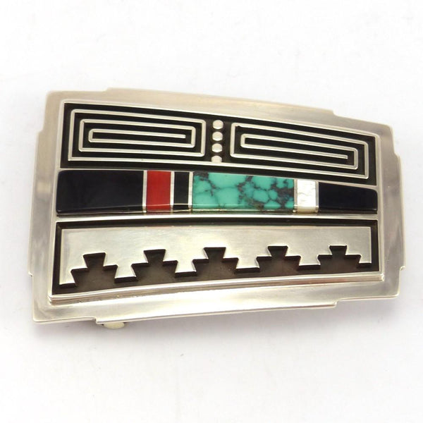 Inlay Buckle, Albert Nells, Jewelry, Garland's Indian Jewelry