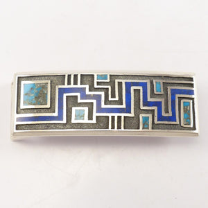 Turquoise and Lapis Buckle