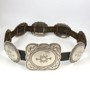 1940s Silver Concha Belt - Jewelry - Vintage Collection - 1