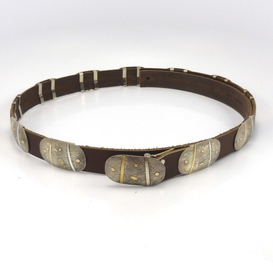 Gold on Silver Concha Belt, Cody Hunter, Jewelry, Garland's Indian Jewelry