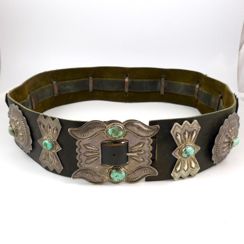 1970s Turquoise Concha Belt - Jewelry - Vintage Collection - 1