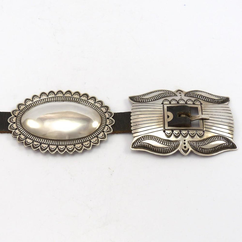 Silver Concha Belt, Curtis Pete, Jewelry, Garland's Indian Jewelry