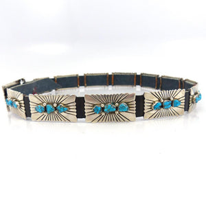 1980s Turquoise Concha Belt, Wilson Begay, Jewelry, Garland's Indian Jewelry