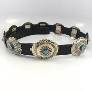 Turquoise Concha Belt, Leonard Nez, Jewelry, Garland's Indian Jewelry