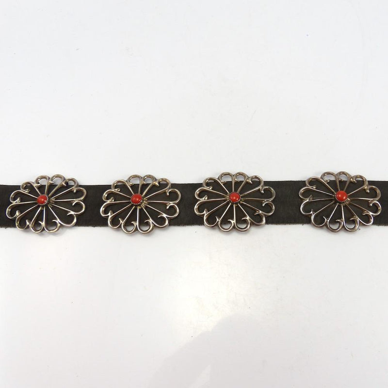 Coral Concha Belt, Vintage Collection, Jewelry, Garland's Indian Jewelry