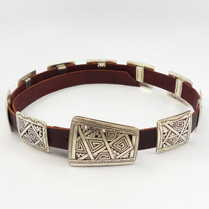 Silver Overlay Concha Belt