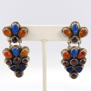 Multi-Stone Earrings, Noah Pfeffer, Jewelry, Garland's Indian Jewelry