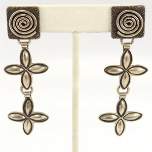 Silver Earrings, Alex Sanchez, Jewelry, Garland's Indian Jewelry