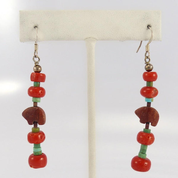 Bead and Bear Earrings