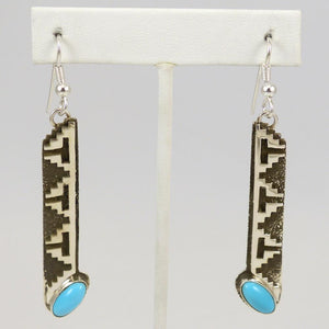 Sleeping Beauty Turquoise Earrings - Jewelry - Tommy Jackson - 1