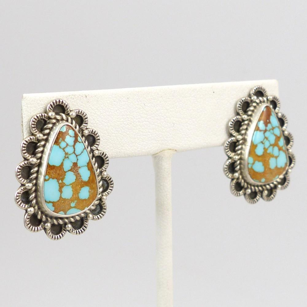 Number Eight Turquoise Earrings - Jewelry - Perry Shorty - 1