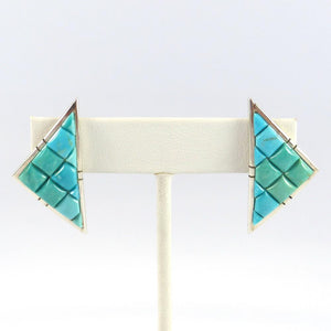 Kingman Turquoise Earrings - Jewelry - Causandra Dukepoo - 1
