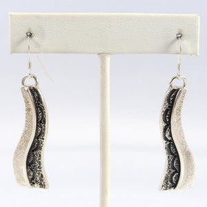 Stamped Silver Earrings - Jewelry - Mary Tom - 1