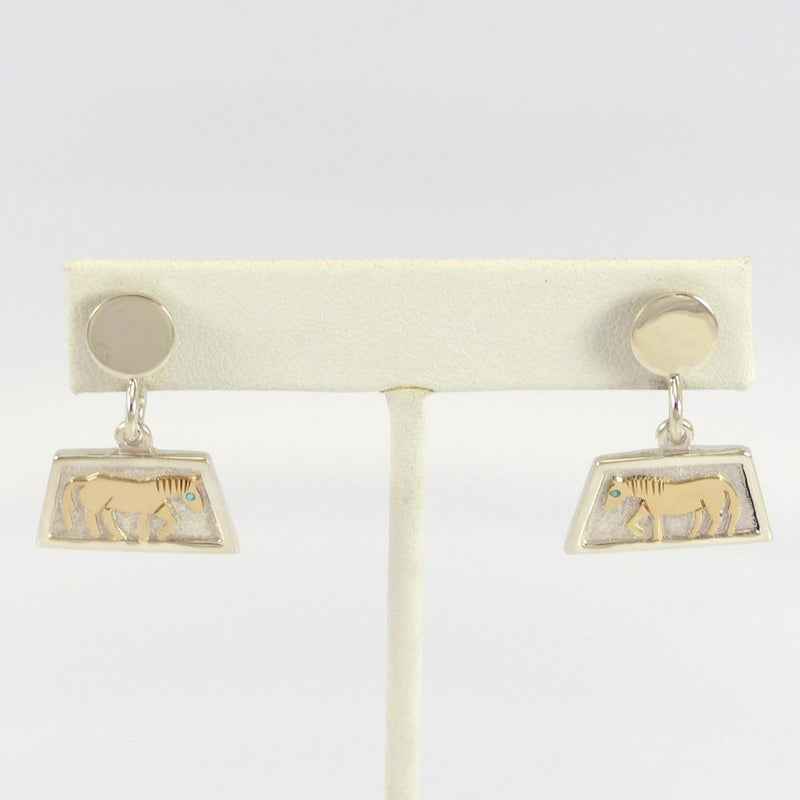 Gold on Silver Horse Earrings - Jewelry - Robert Taylor - 1