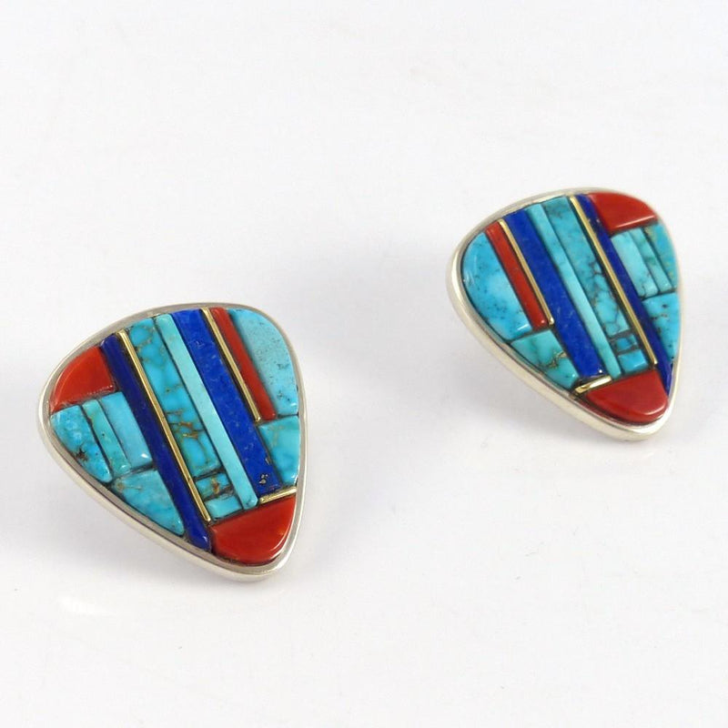 Cobbled Inlay Earrings - Jewelry - Wes Willie - 3