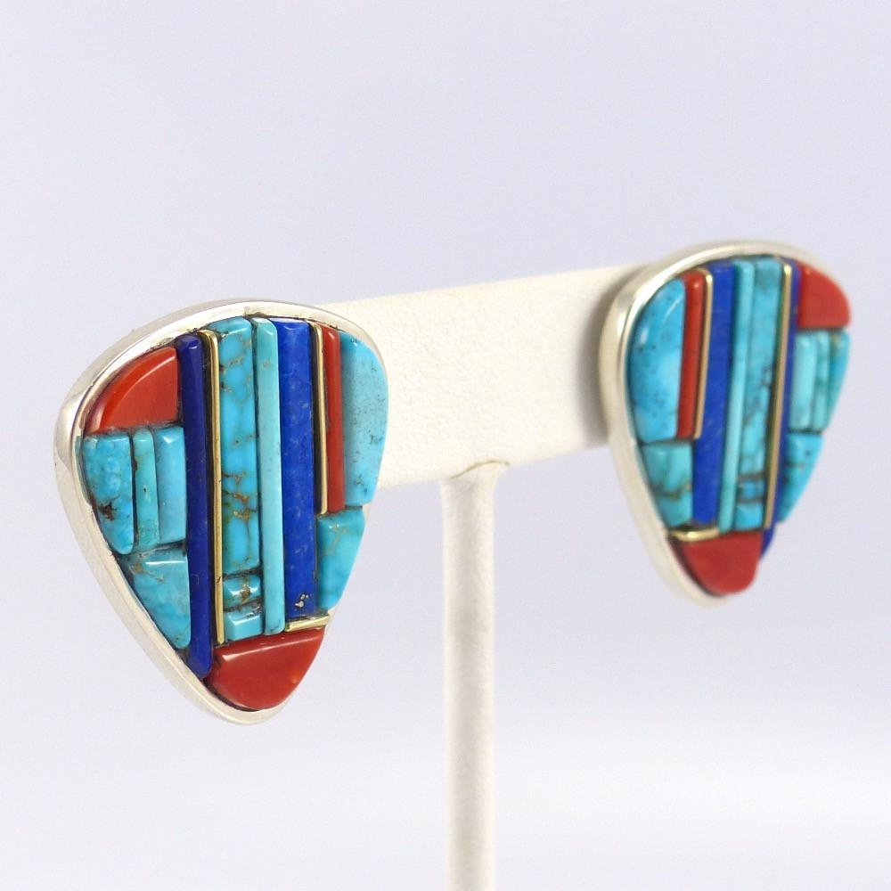 Cobbled Inlay Earrings - Jewelry - Wes Willie - 1