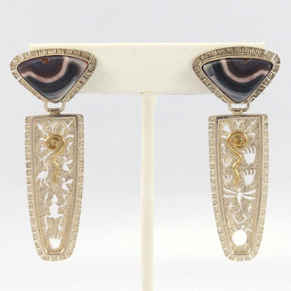 Agate Earrings, Myron Panteah, Garland's Indian Jewelry