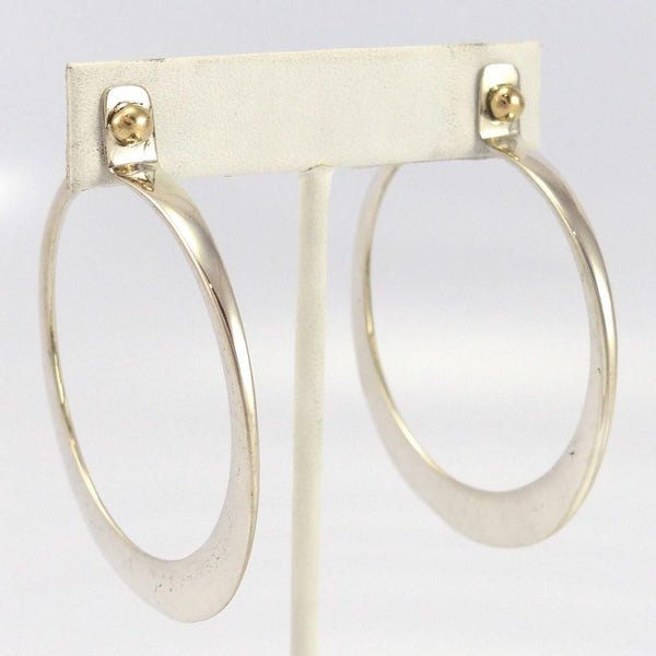 Gold and Silver Hoop Earrings - Jewelry - Edison Cummings - 1