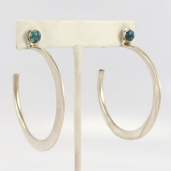 Royston Turquoise Hoop Earrings - Jewelry - Edison Cummings - 1
