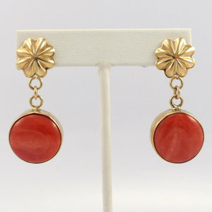 Salmon Coral Earrings - Jewelry - Larry Joe - 1