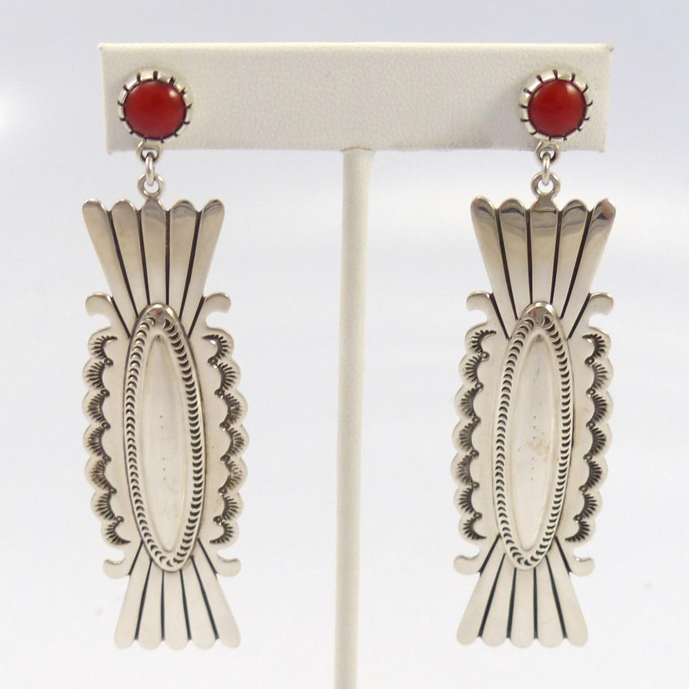 Coral Earrings, Fidel Bahe, Jewelry, Garland's Indian Jewelry