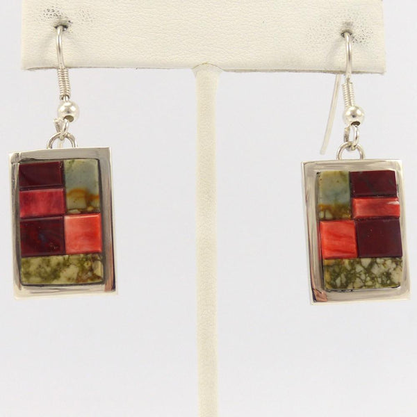 Inlay Earrings, Tommy Jackson, Jewelry, Garland's Indian Jewelry