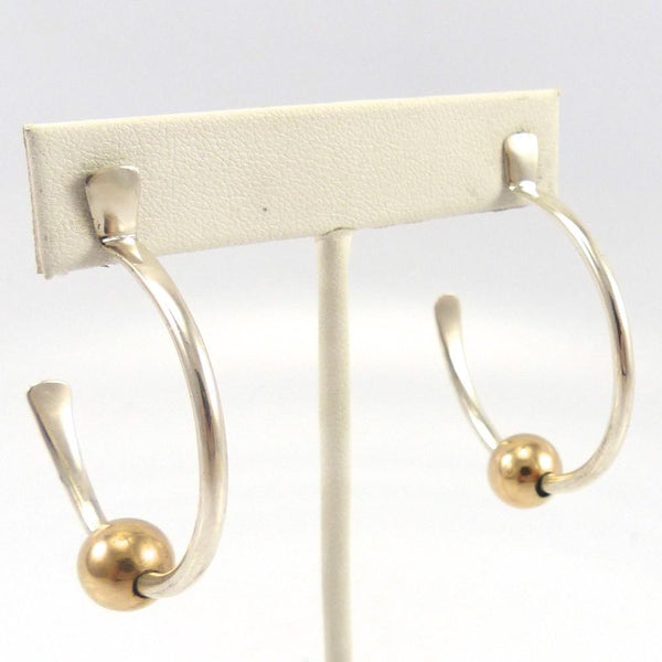 Gold and Silver Hoop Earrings, Edison Cummings, Jewelry, Garland's Indian Jewelry