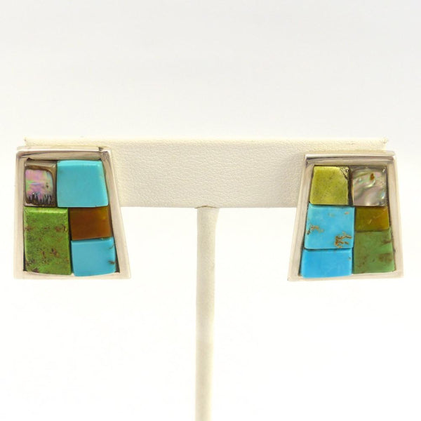 Cobbled Inlay Earrings, Na Na Ping, Jewelry, Garland's Indian Jewelry