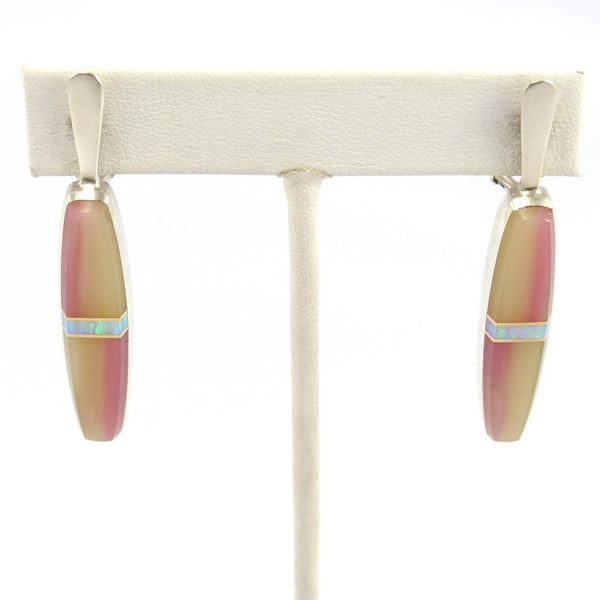 Inlay Earrings, Duane Maktima, Jewelry, Garland's Indian Jewelry