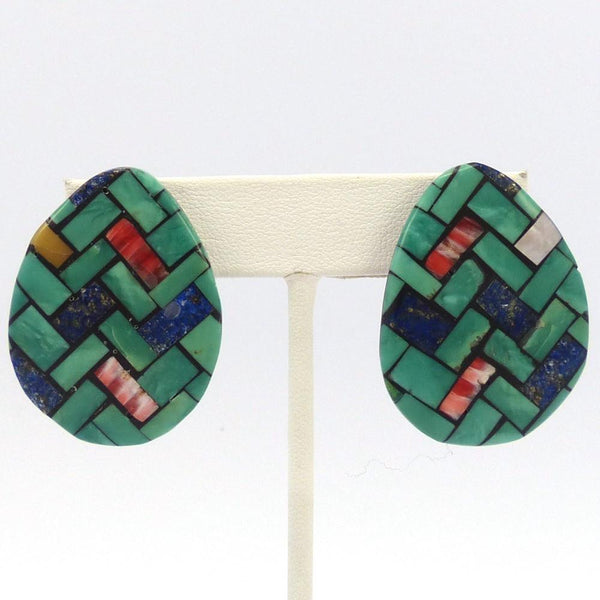 Inlay Earrings, Rena Owen, Jewelry, Garland's Indian Jewelry