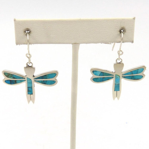Dragonfly Inlay Earrings, Rolanda Haloo, Jewelry, Garland's Indian Jewelry