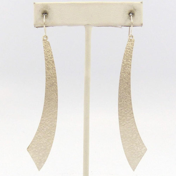 Silver Crater Earrings, Chris Pruitt, Jewelry, Garland's Indian Jewelry