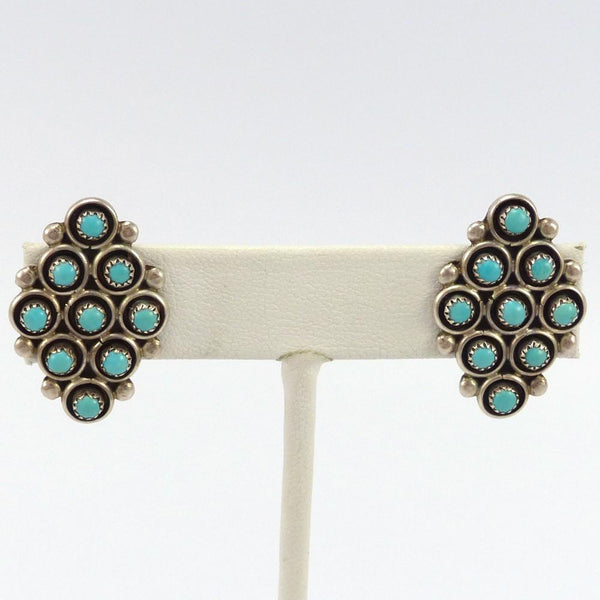 1970s Turquoise Clip Earrings