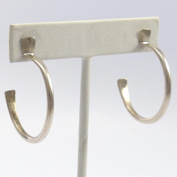 Silver Hoop Earrings, Edison Cummings, Jewelry, Garland's Indian Jewelry