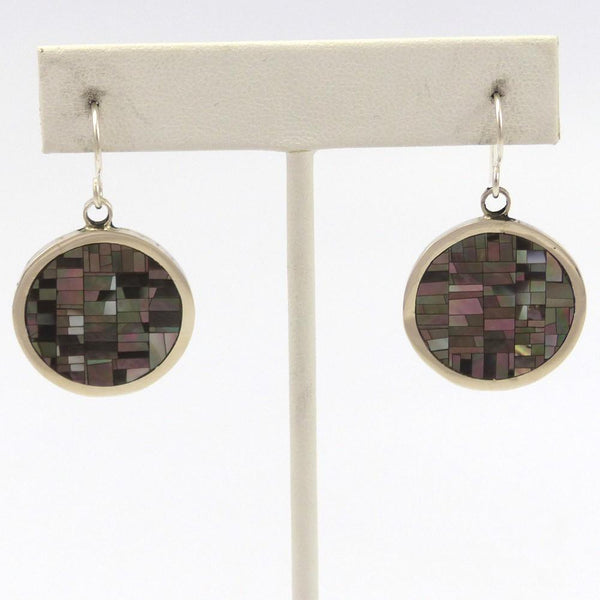 Inlay Earrings, Colin Coonsis, Jewelry, Garland's Indian Jewelry