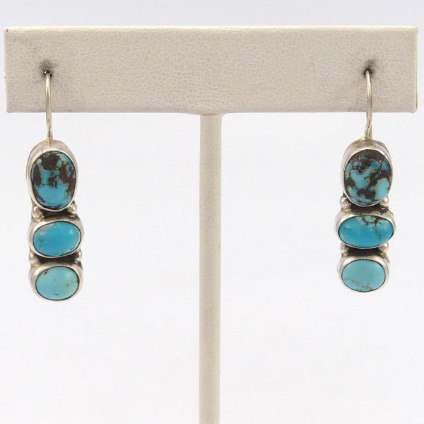 Kingman Turquoise Earrings, Clarissa and Vernon Hale, Jewelry, Garland's Indian Jewelry