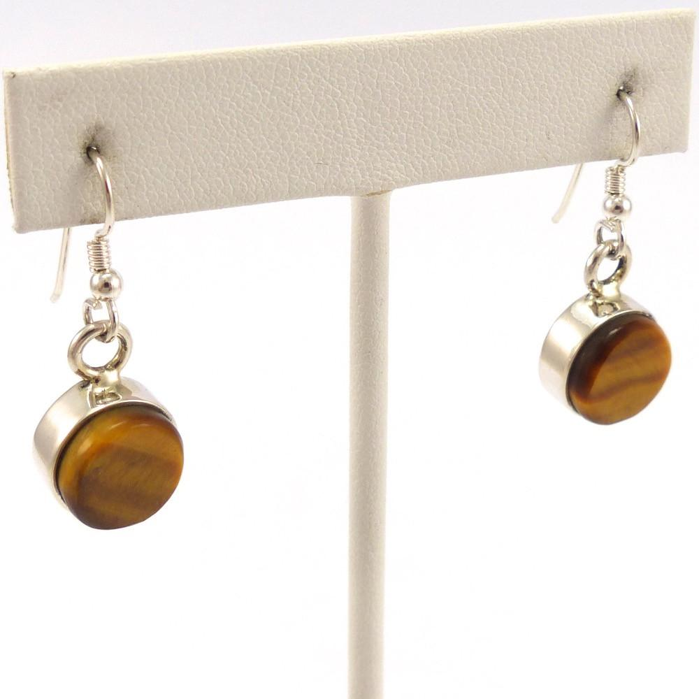 Tiger's Eye Earrings, Causandra Dukepoo, Jewelry, Garland's Indian Jewelry