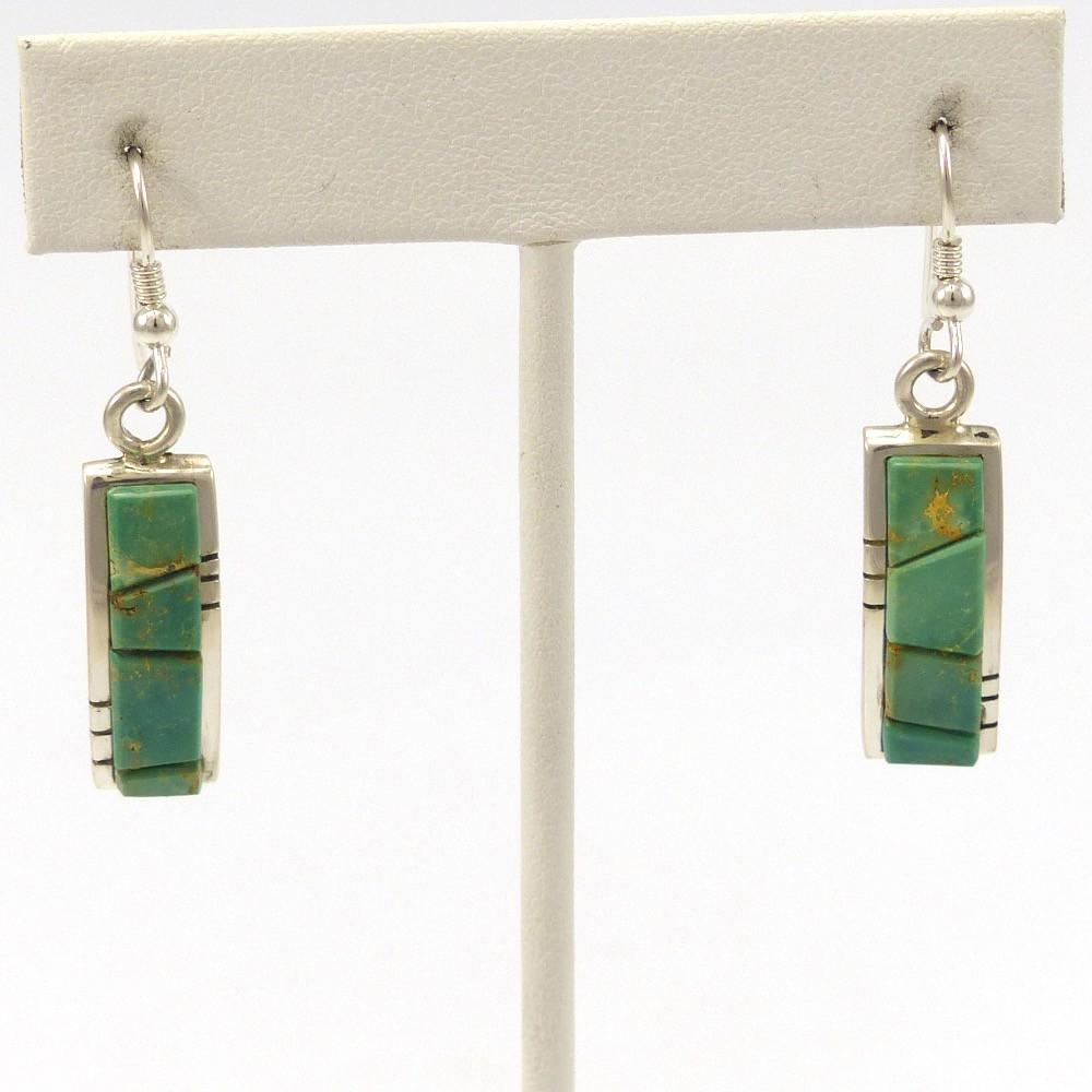 Fox Turquoise Earrings, Michael and Causandra Dukepoo, Jewelry, Garland's Indian Jewelry