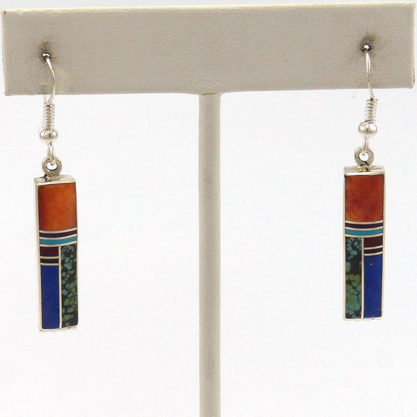 Colorful Inlay Earrings, Stanley Manygoats, Jewelry, Garland's Indian Jewelry