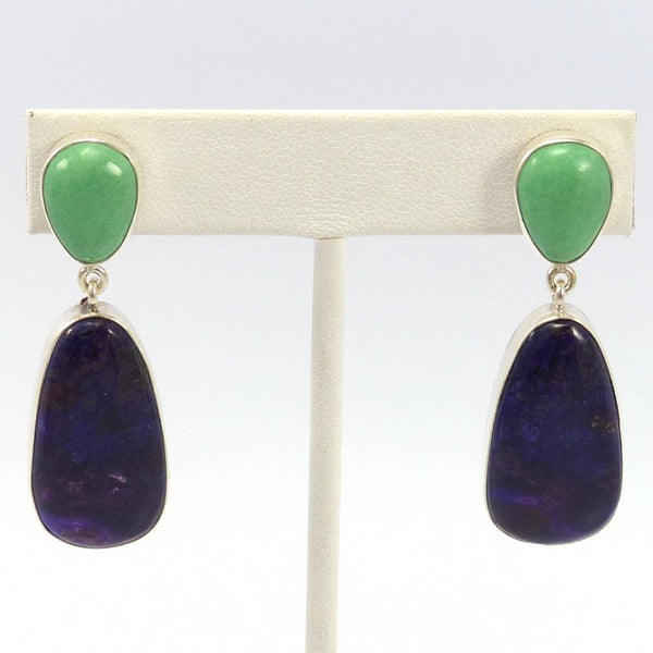 Variscite and Sugilite Earrings