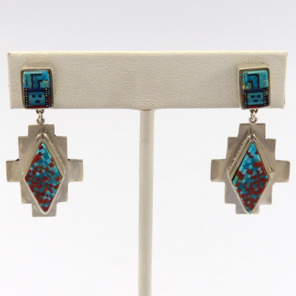 Micro Inlay Yei Earrings