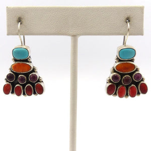Turquoise and Spiny Oyster Shell Earrings