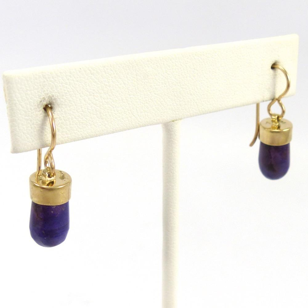 Sugilite and Gold Earrings