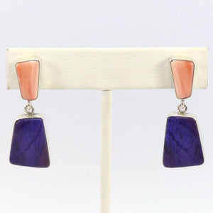 Coral and Sugilite Earrings, Noah Pfeffer, Jewelry, Garland's Indian Jewelry