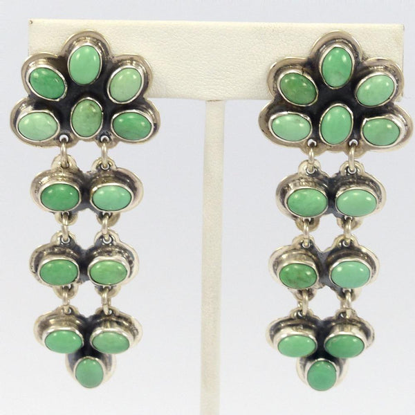 Variscite Clip Earrings